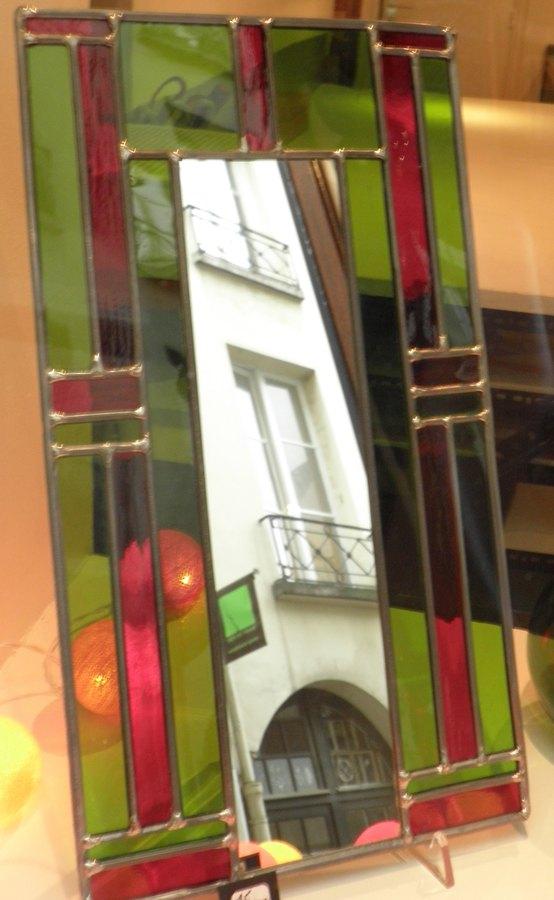 vitrail de bi vre cr ation miroir id e de cadeaux d exception paris d cor d coration. Black Bedroom Furniture Sets. Home Design Ideas