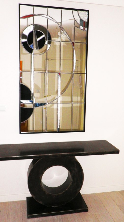 Vitrail de bi vre cr ation miroir id e de cadeaux d for Miroir pour hall d entree