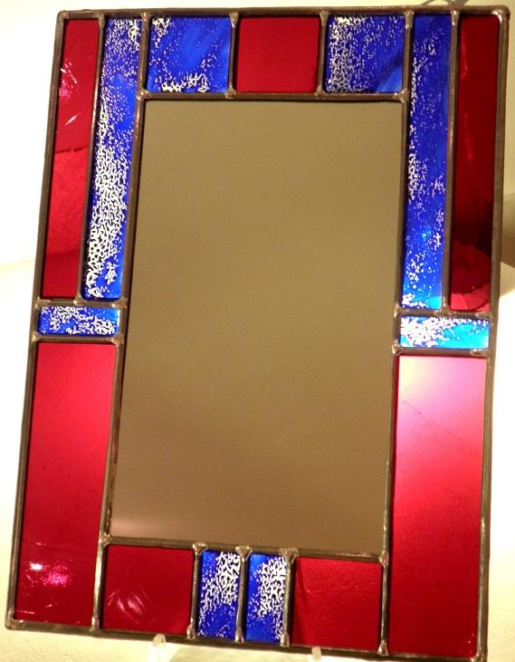 Vitrail de bi vre cr ation miroir id e de cadeaux d for Miroir sur mesure paris